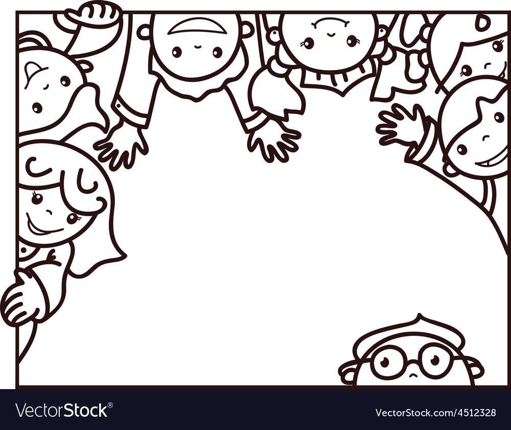 Kids frame Royalty Free Vector Image - VectorStock