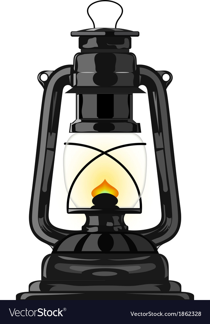 Picture of: Old Kerosene Lamp Eps10 Royalty Free Vector Image
