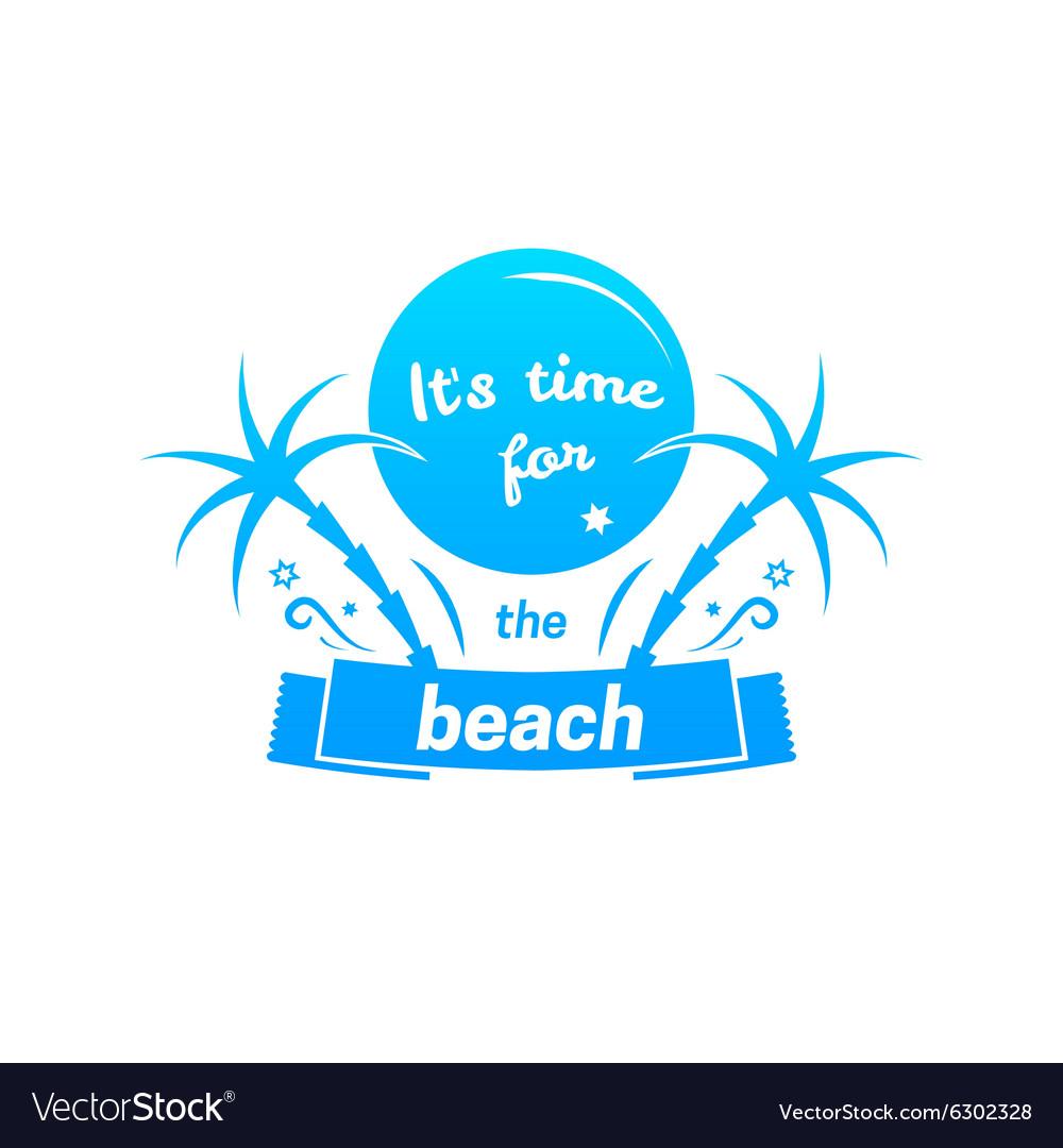 Summer sign retro typography sea and beach logo