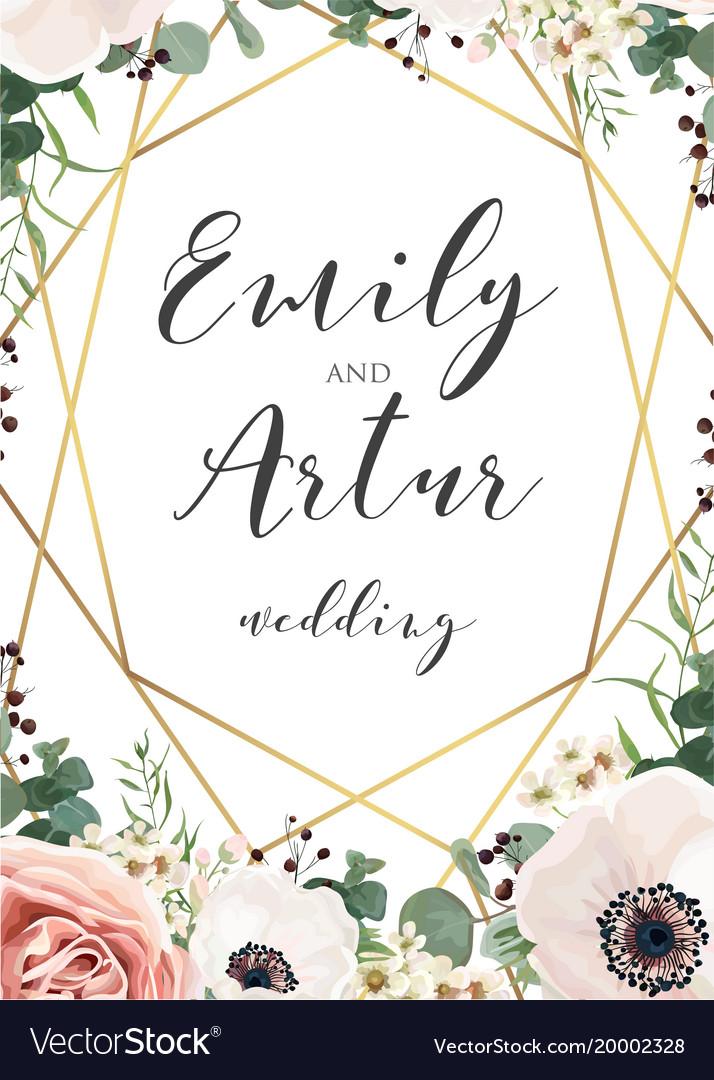 Wedding elegant invite invitation save the date