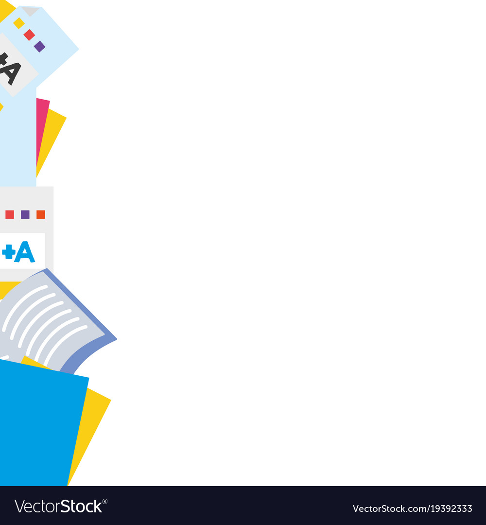 White Education Background Vector Vector Art Graphics: Colorful School Tools Education Background Design Vector Image
