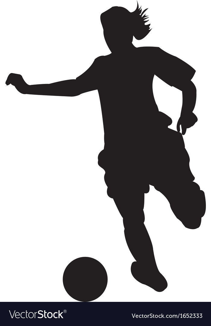 girl soccer player royalty free vector image vectorstock rh vectorstock com female soccer player vector female soccer player vector