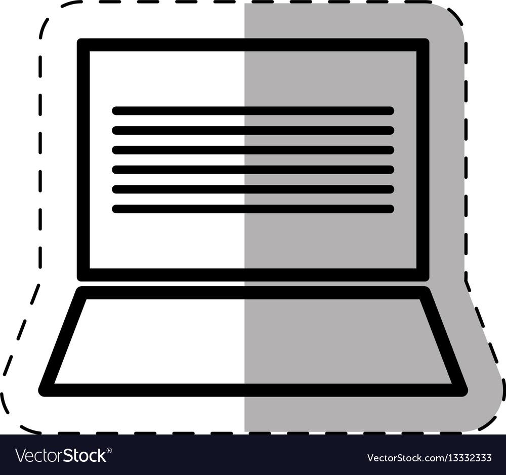 Laptop school thin line