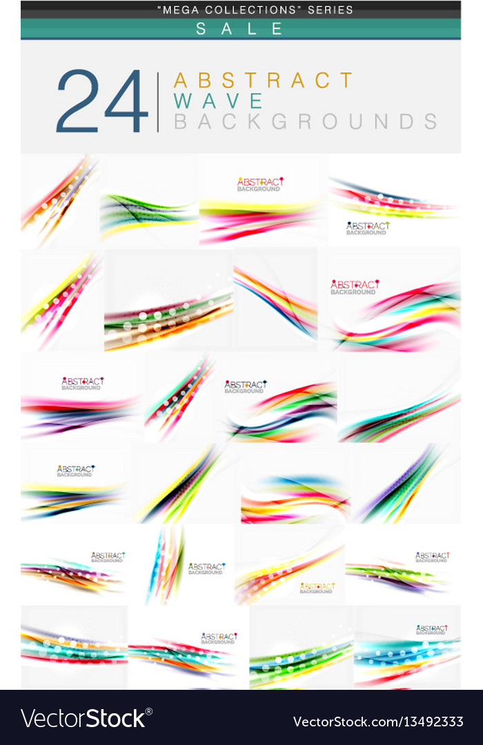 Mega collection of 24 wave abstract backgrounds
