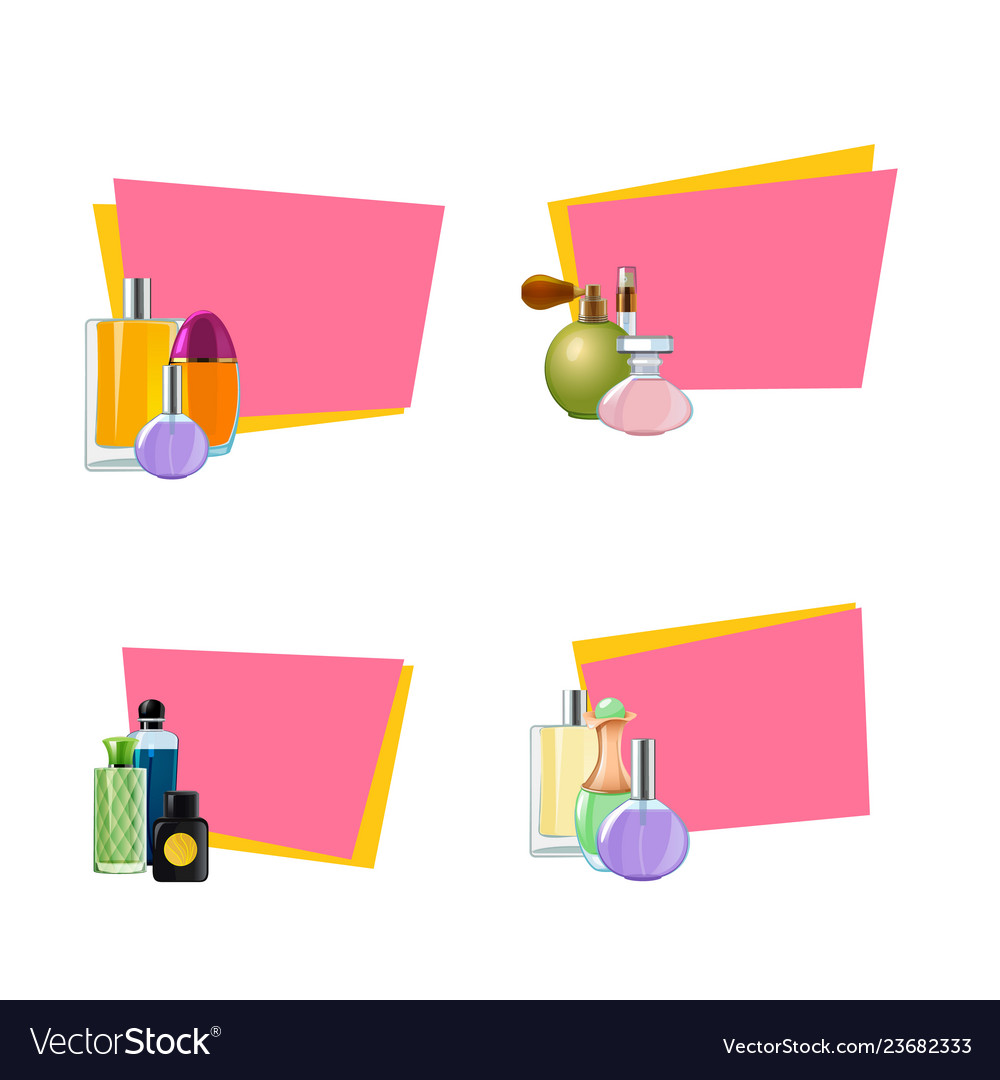 Perfume bottles stickers with place for