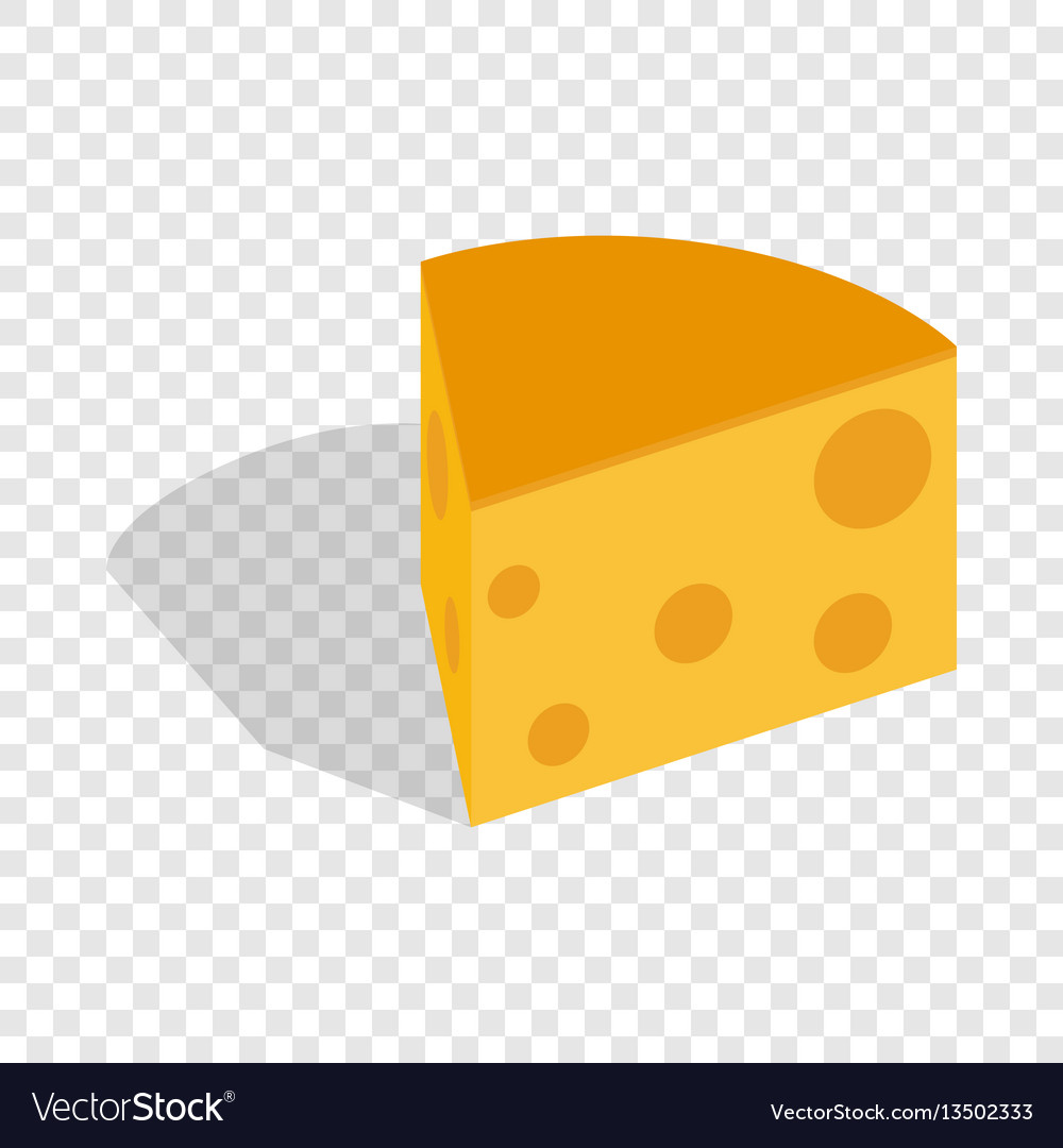Piece of cheese isometric icon