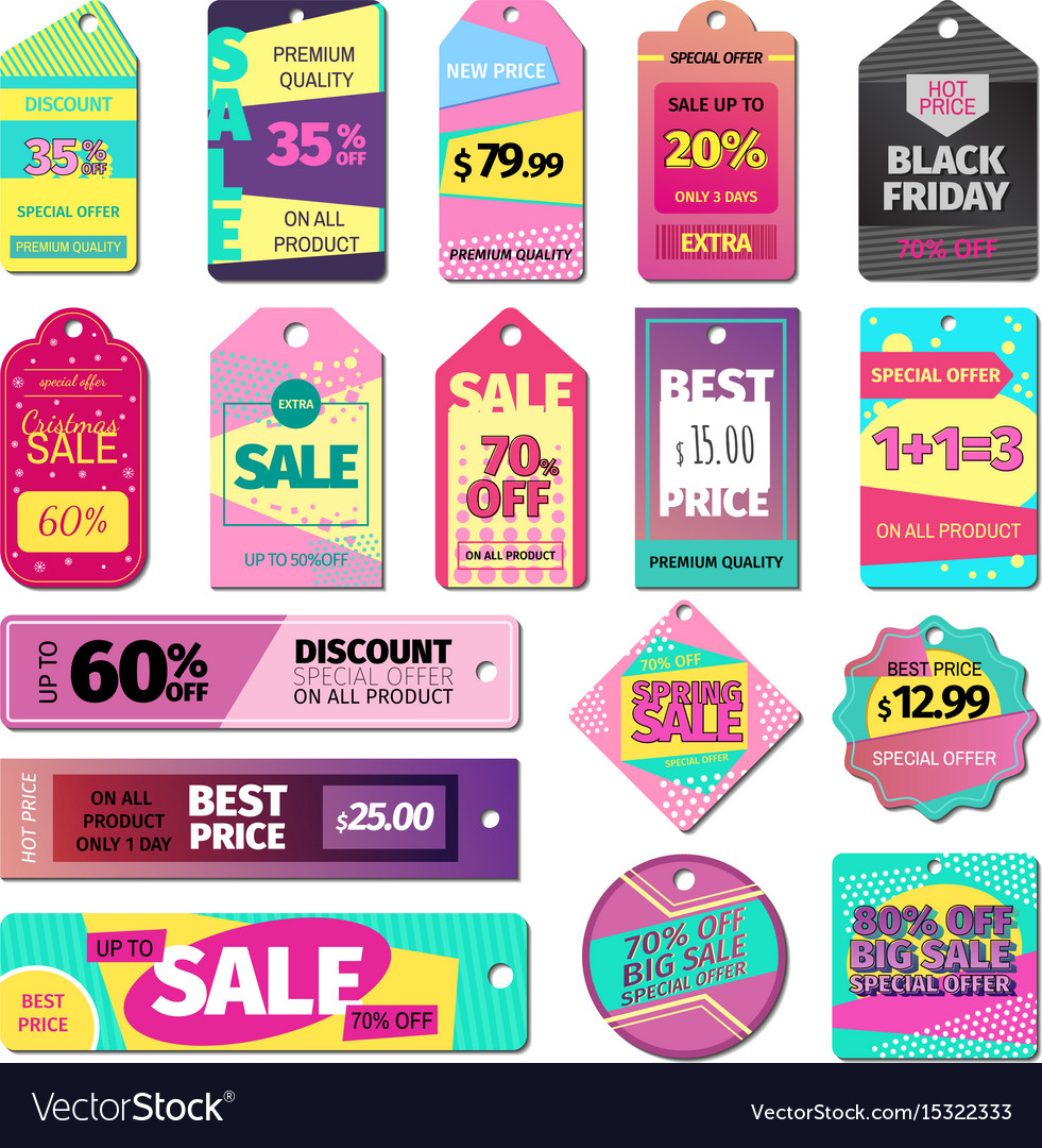 Price sale clothes tag modern pattern price card