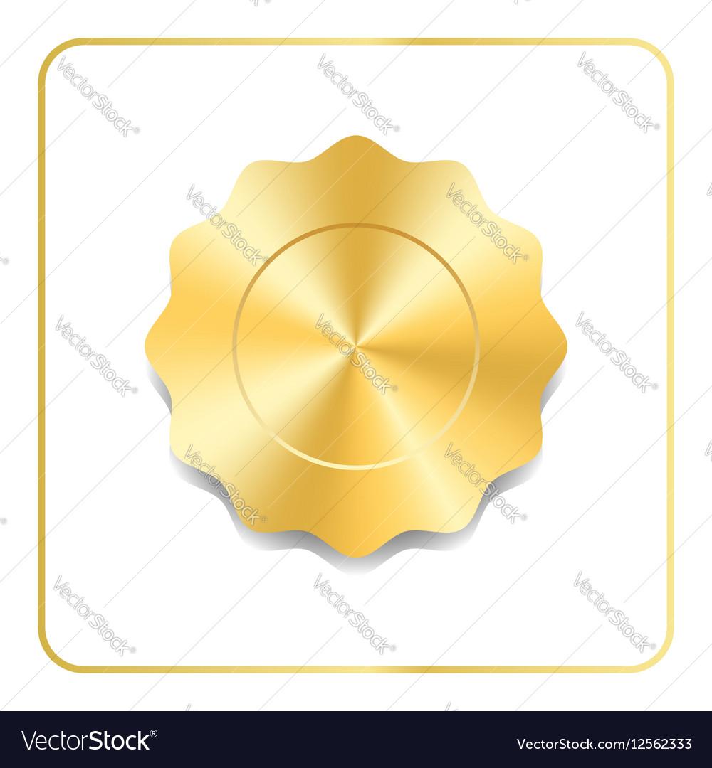 Seal award gold icon vector image