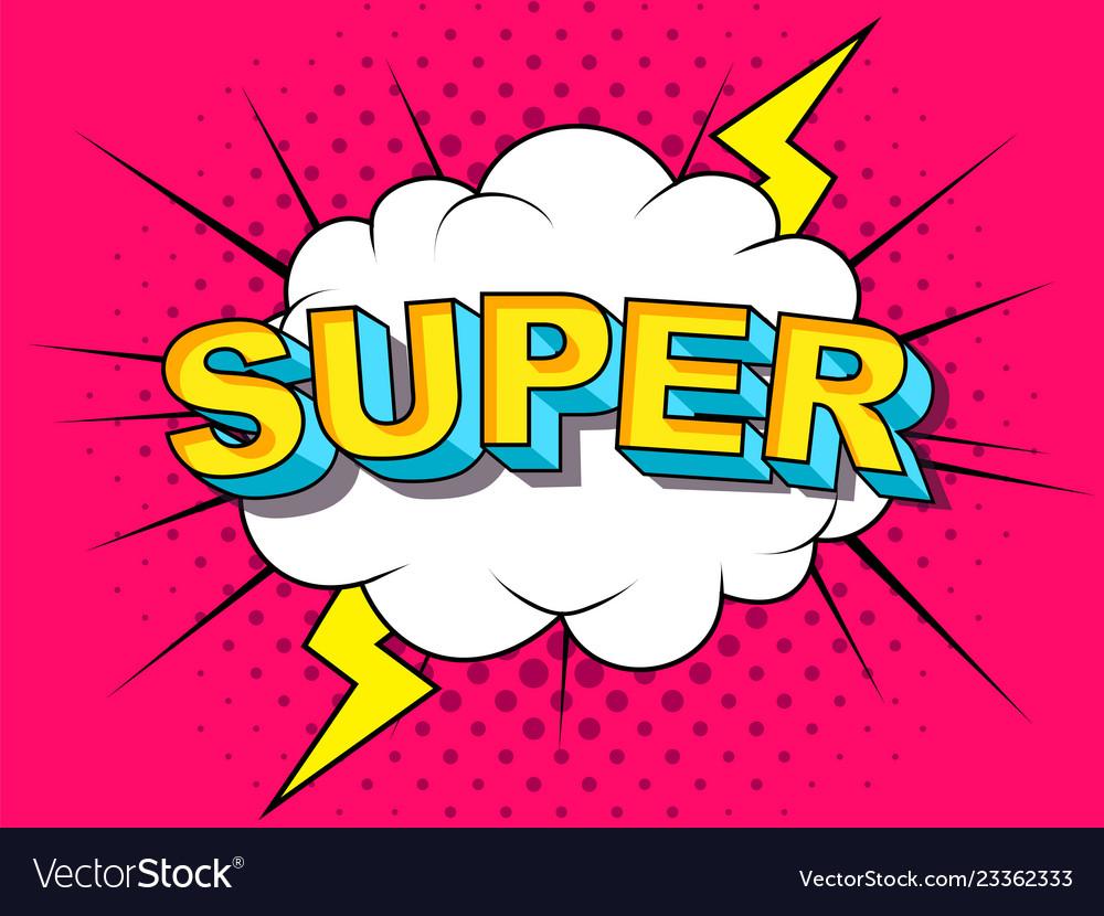 Super comic cartoon explosions