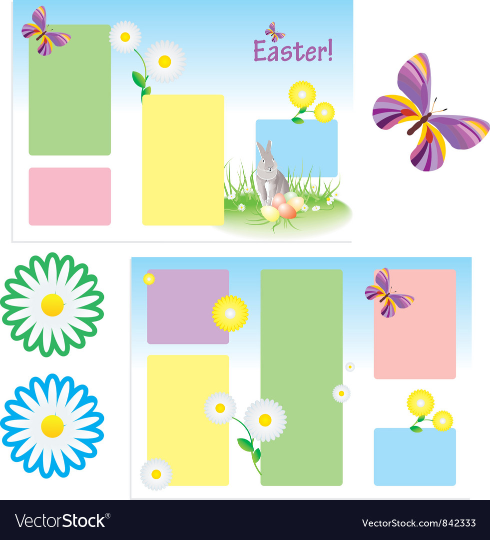 tri folder template for spring royalty free vector image