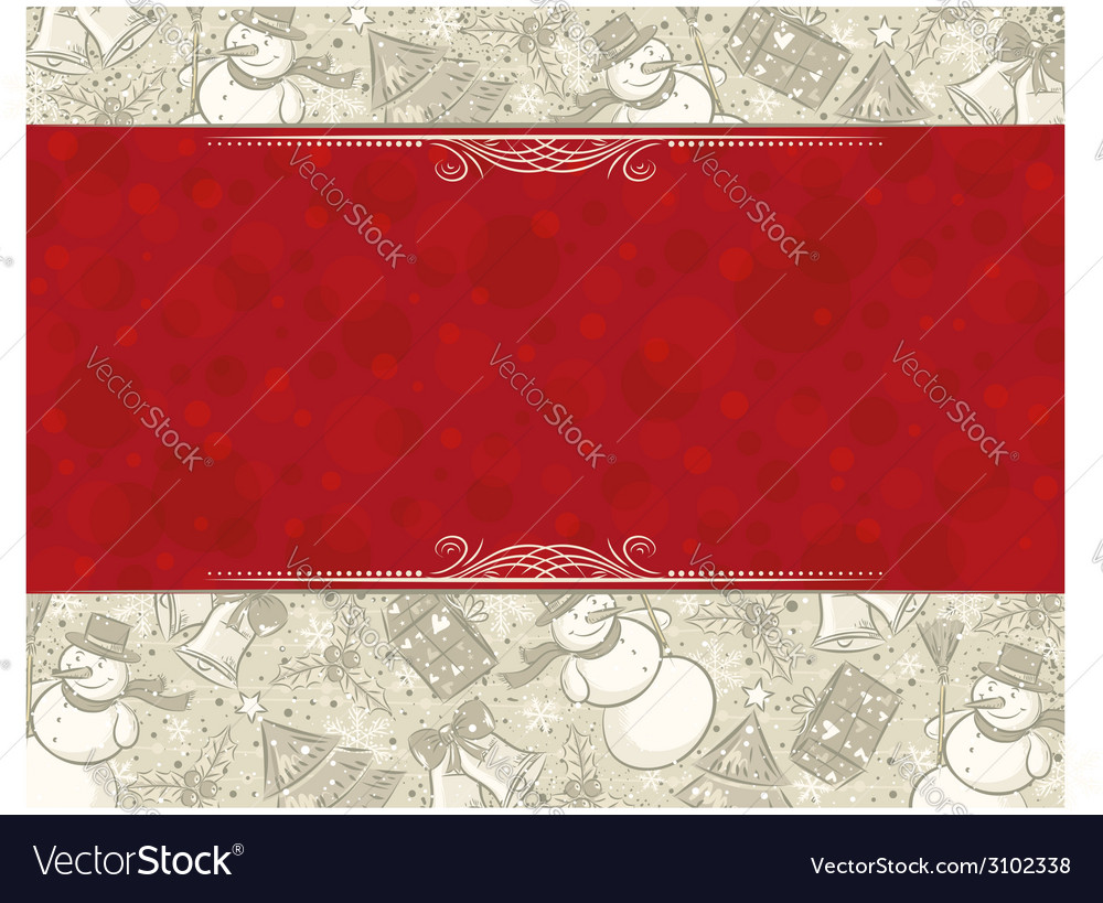 Background with christmas elements and label for m