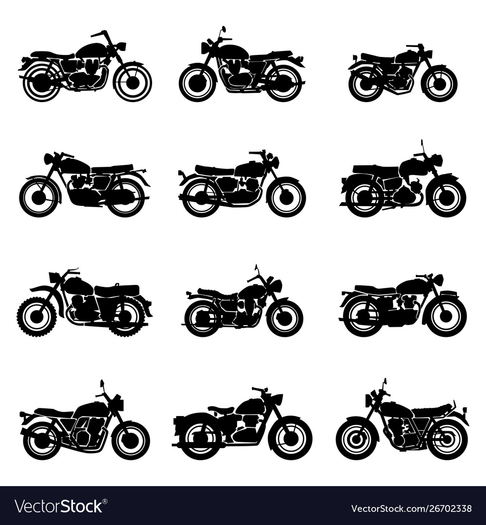Classic road vintage motorcycles