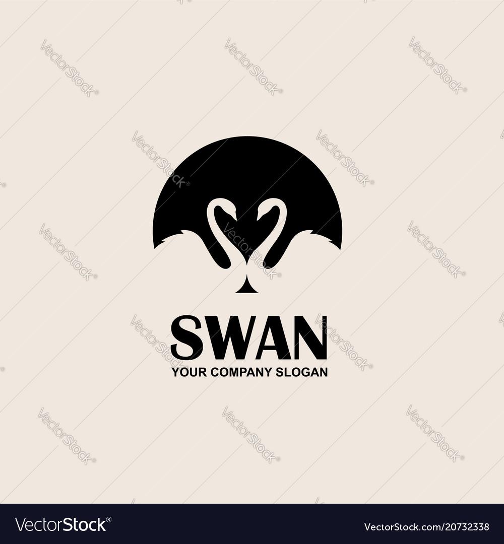 Emblem of swan
