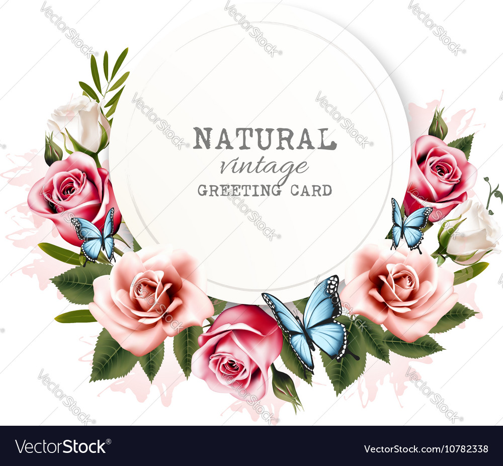 Holiday background with beauty flowers and vector image