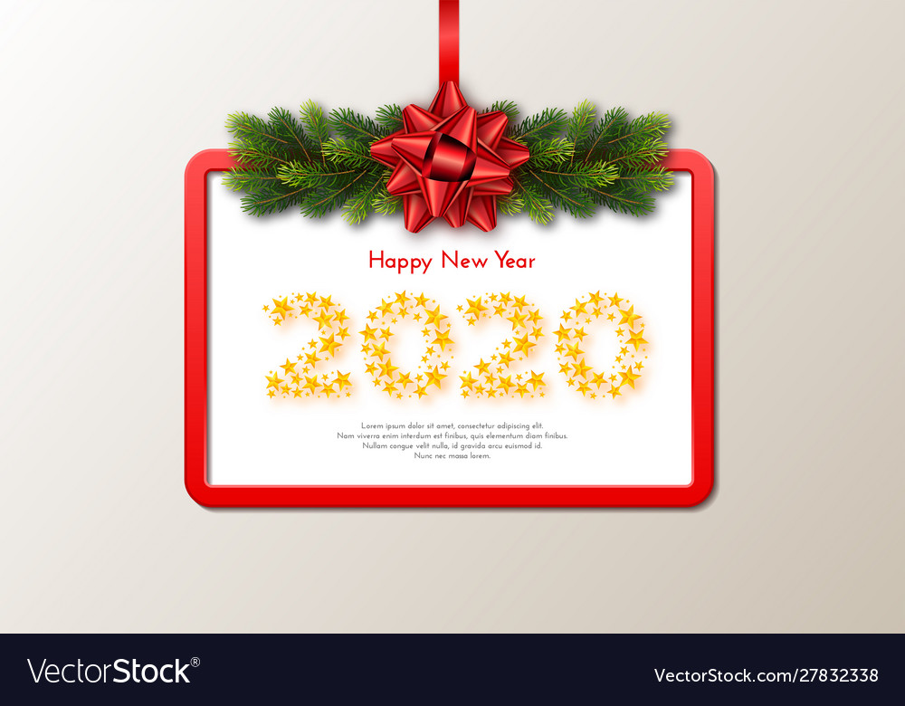 Holiday gift card happy new year 2020 numbers of