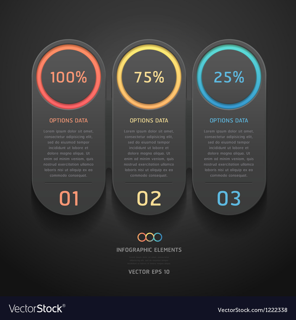 Infographics elements numbers template