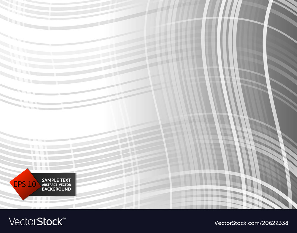 Line curve gray color geometric abstract on vector image