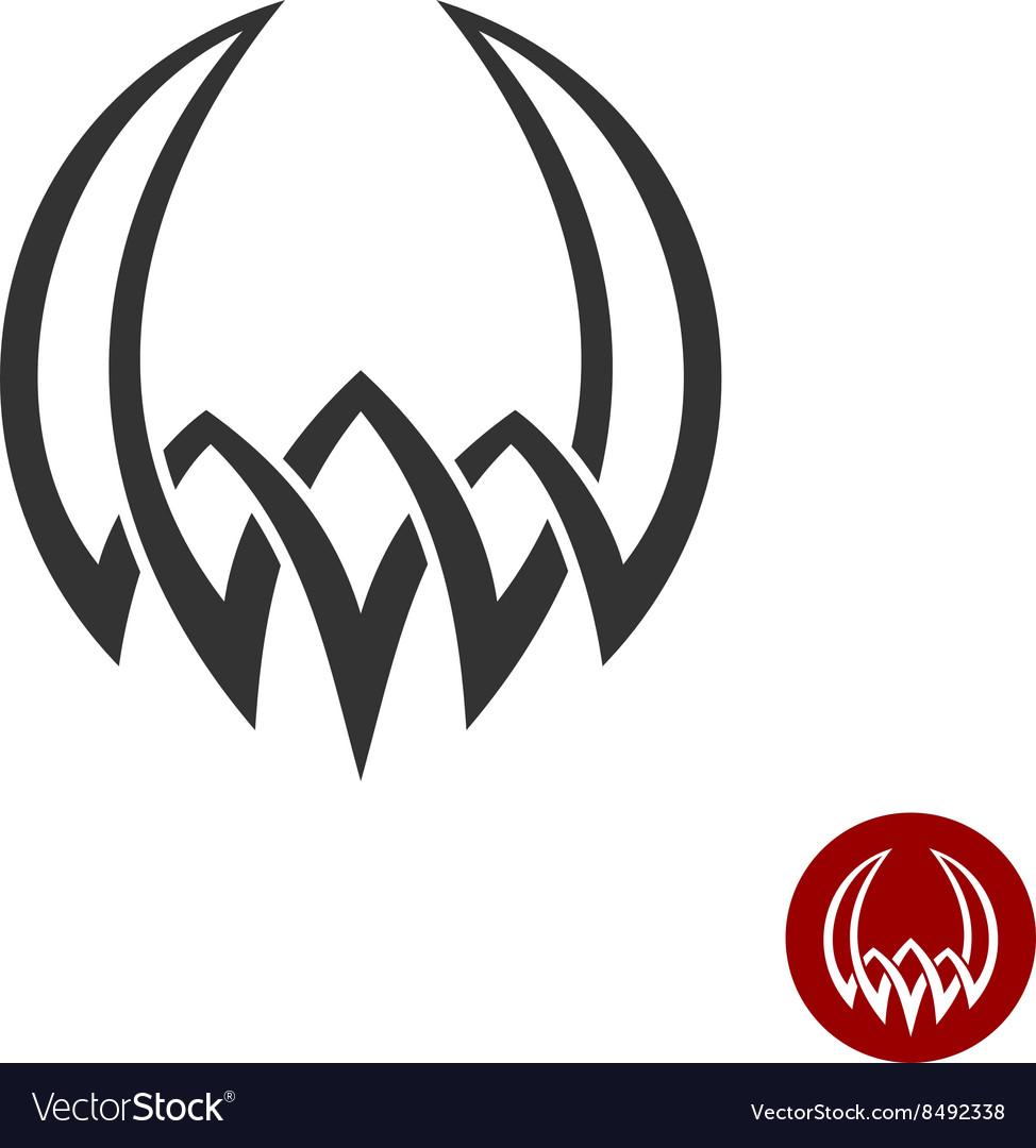 Mythology weaving abstract tattoo symbol Round vector image