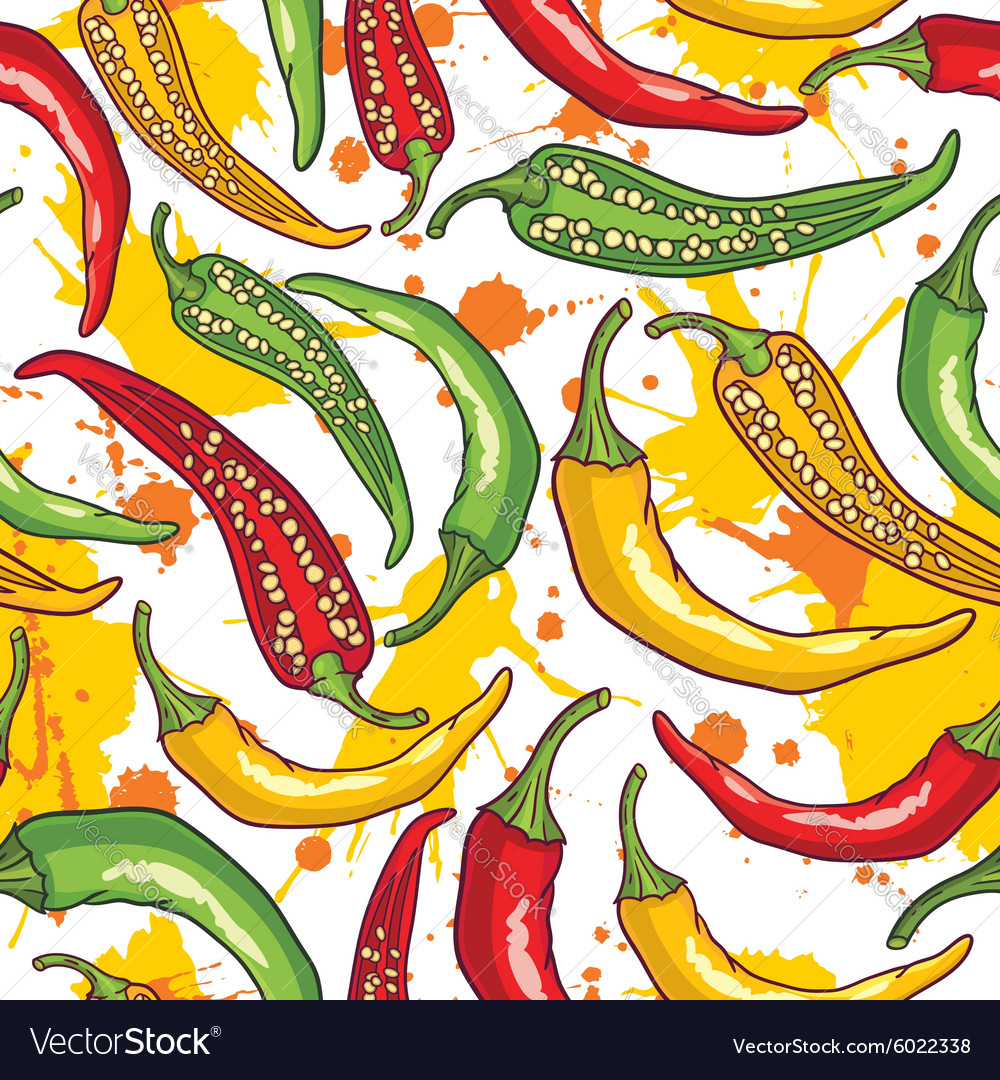 Pepper pattern background