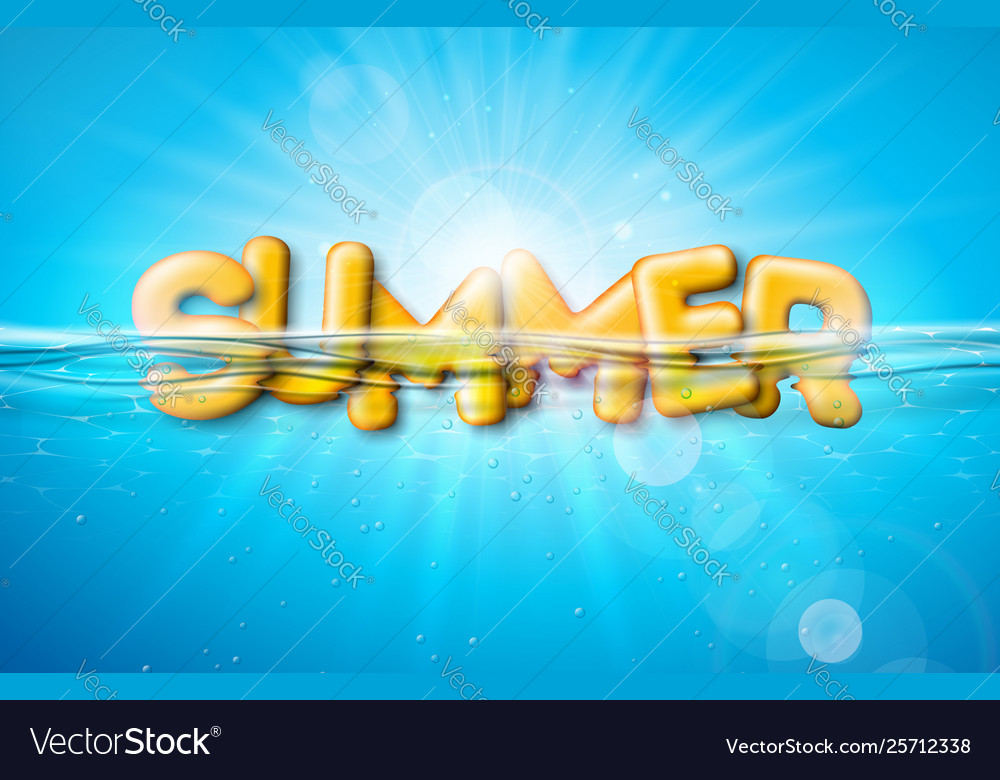 Summer with 3d typography