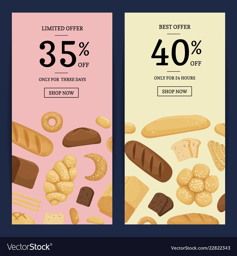Cartoon bakery elements web banner