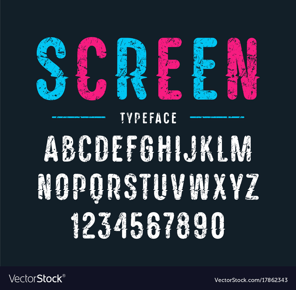 Decorative sanserif font with rounded corners vector image
