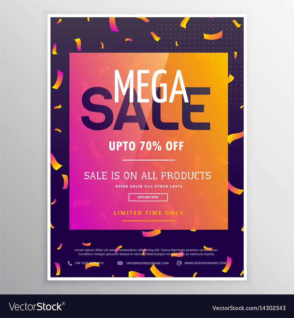Modern creative mega sale promotional banner