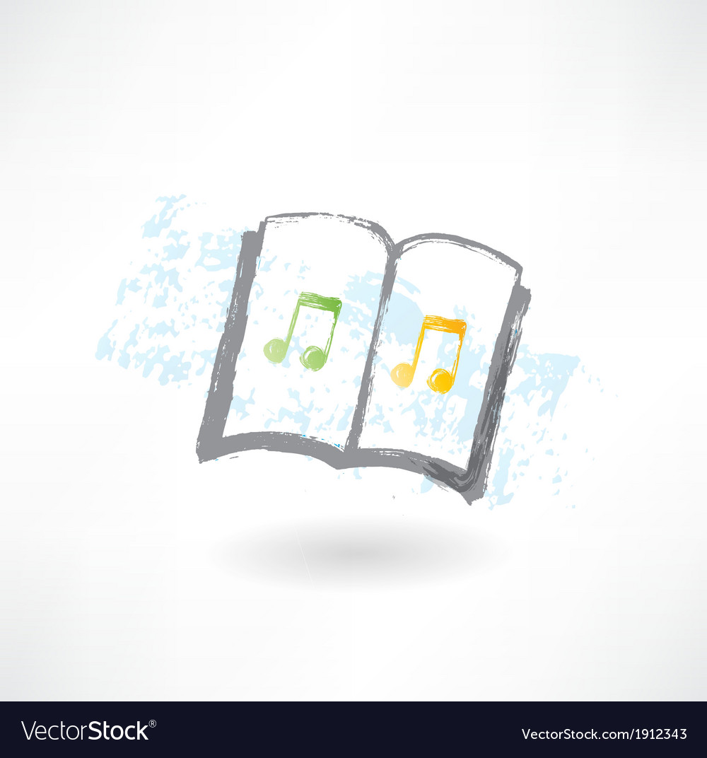 Music note grunge icon vector image