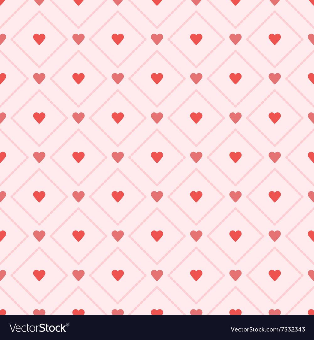 Seamless retro pattern hearts eps 10