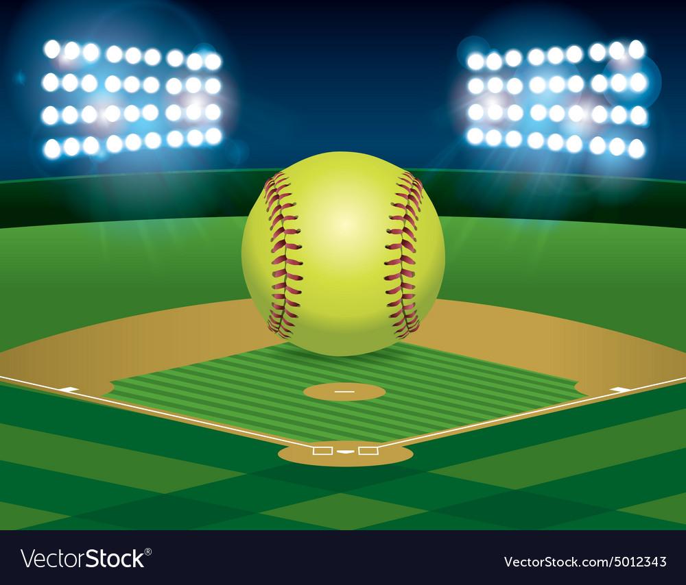 Softball on Stadium Field