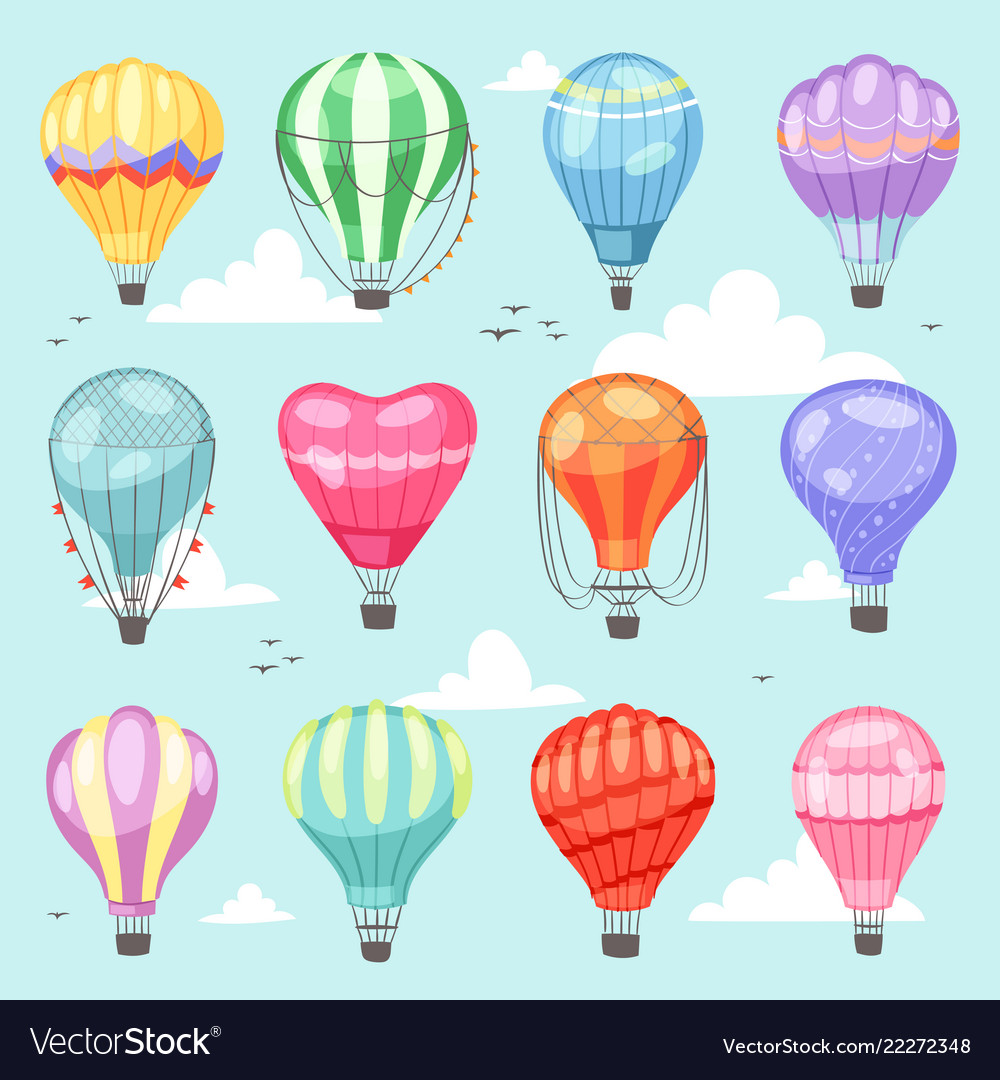 Balloon cartoon air-balloon or aerostat