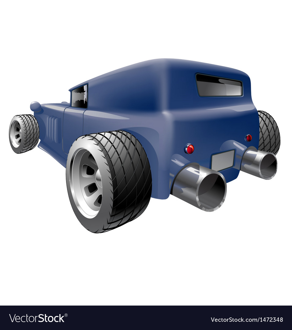 Car with big tailpipes