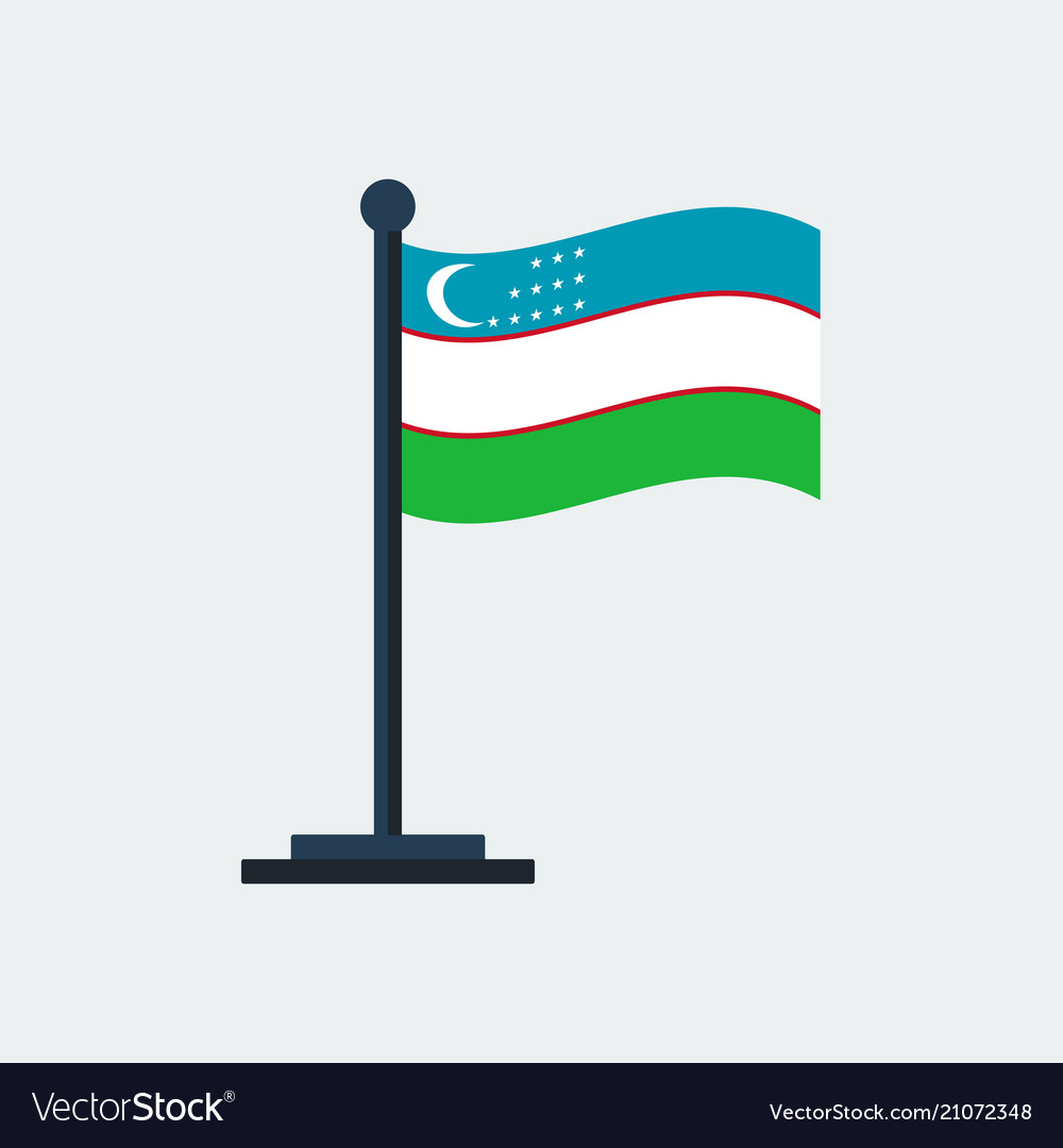 Flag of uzbekistanflag stand