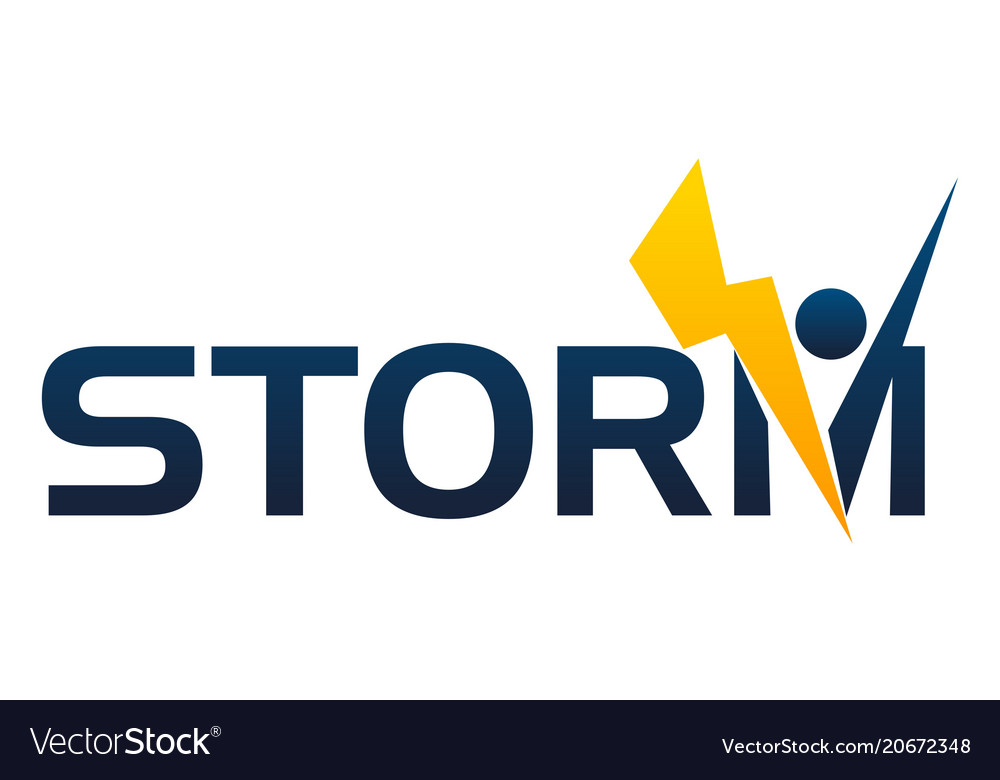 Letter storm company vector image