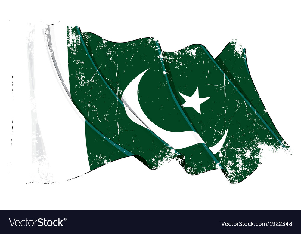 Pakistan flag grunge