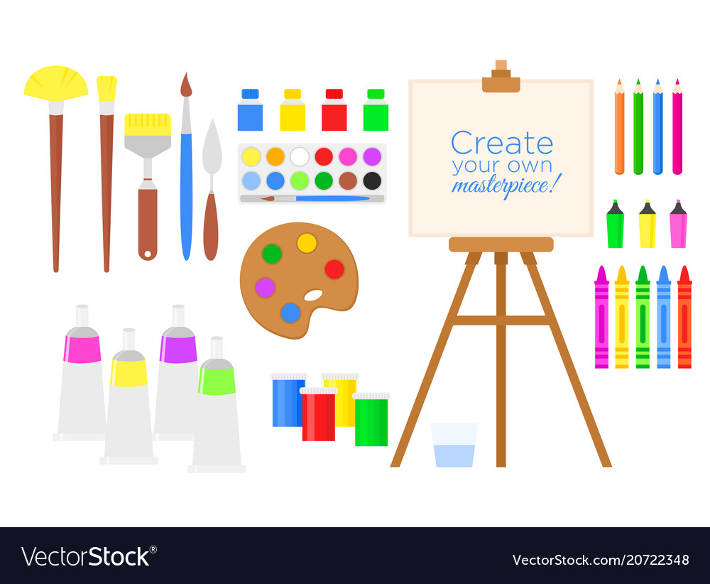 Set of tools and materials for