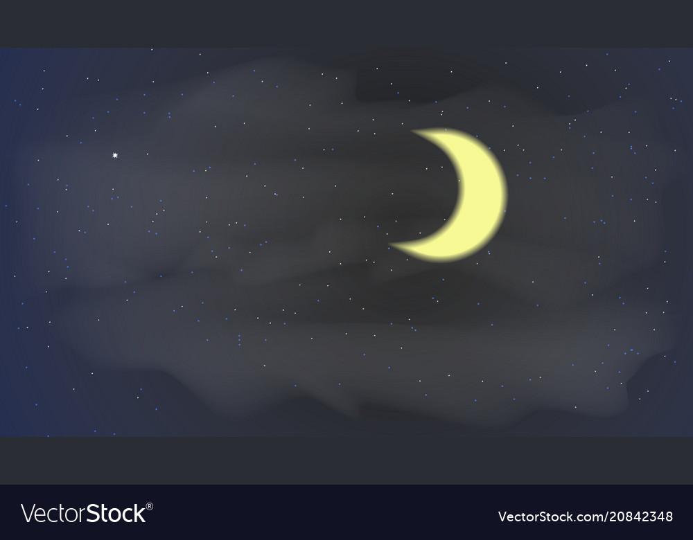 Stars moon sky night