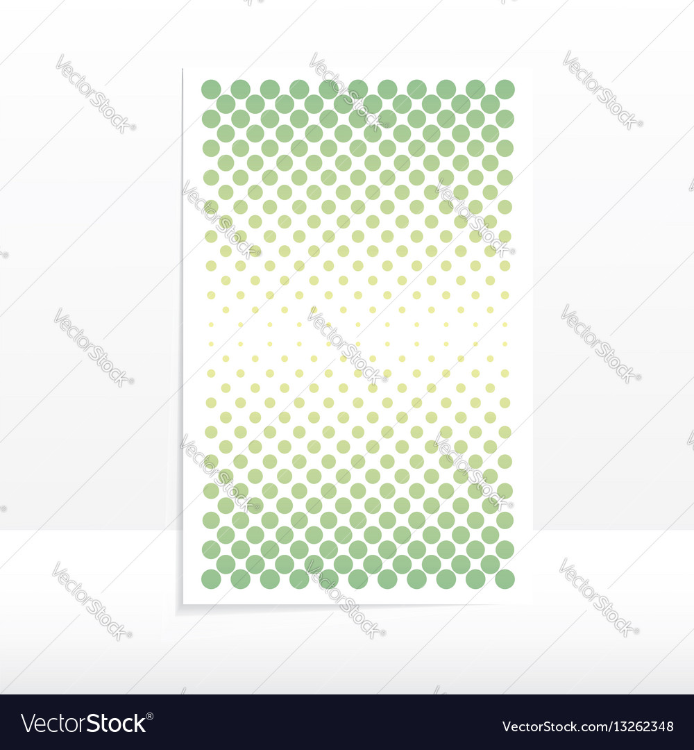 Template poster design from a point of the vector image