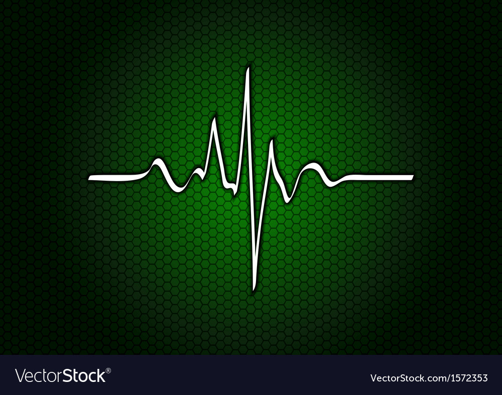 Abstract green cardio