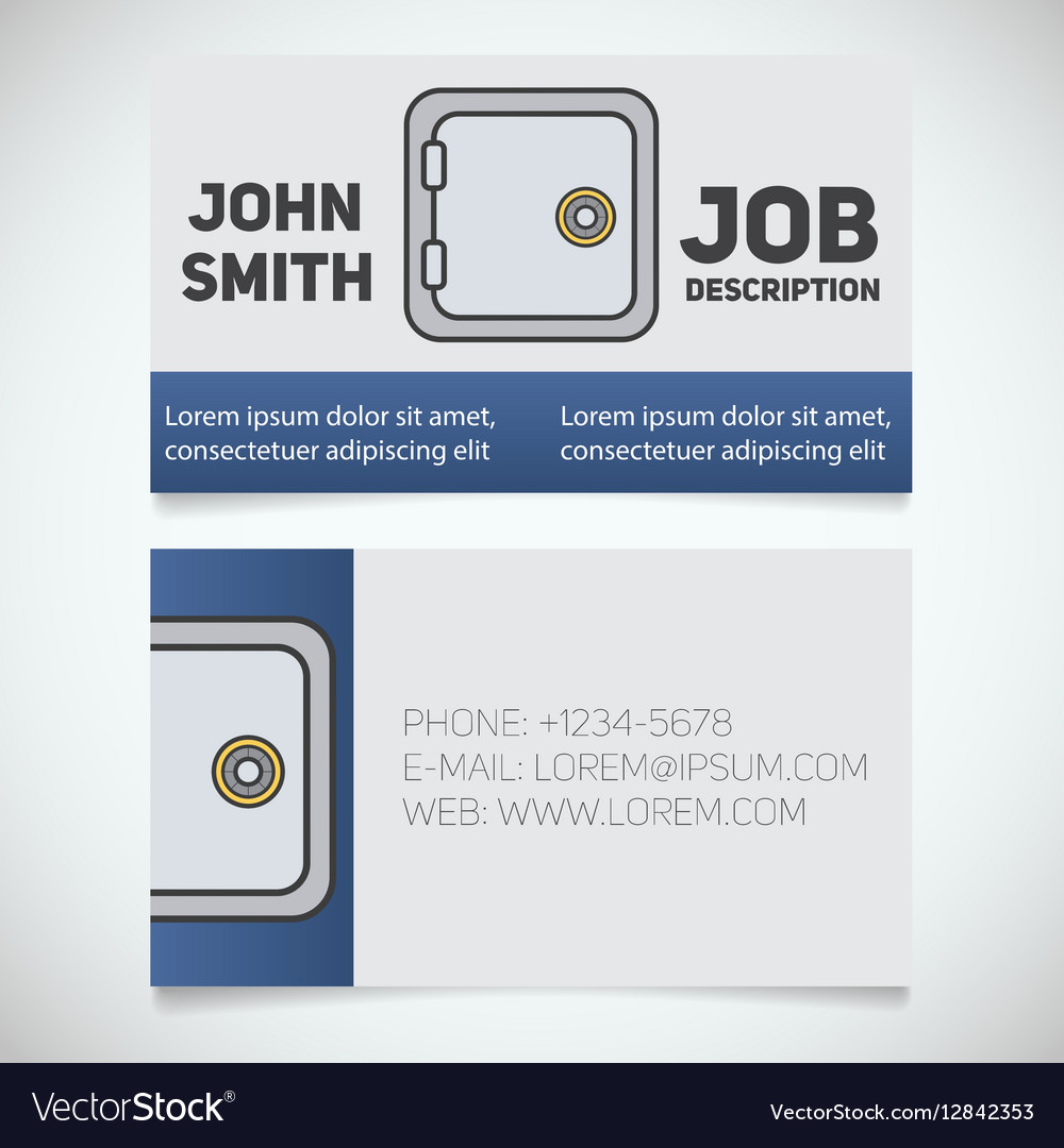 business card print template royalty free vector image