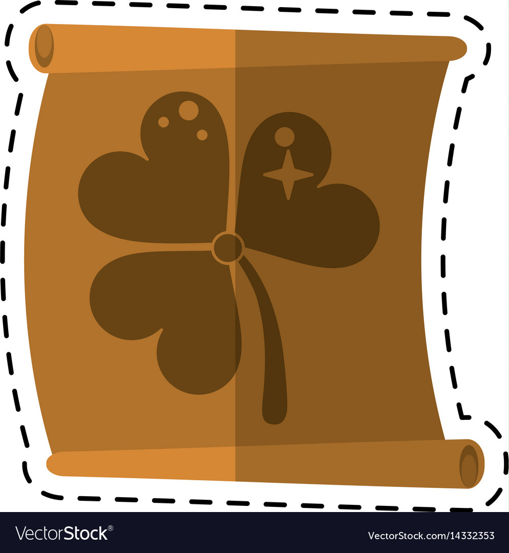 Cartoon st patricks day clover papyrus vector image