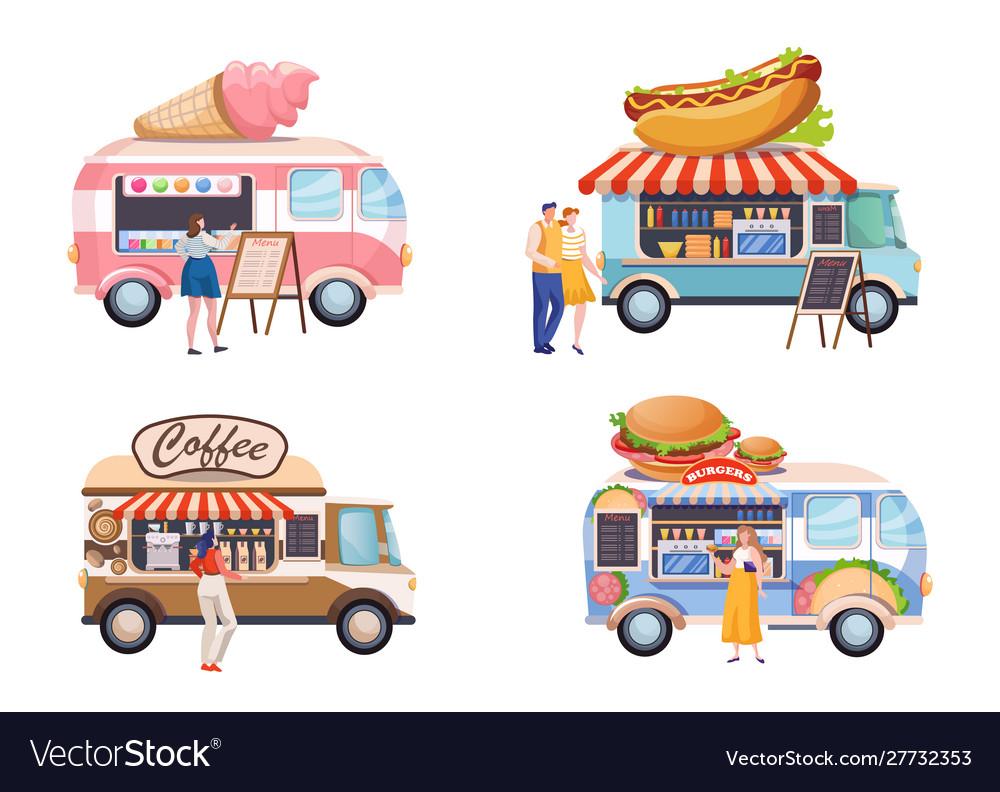 Food truck flat set
