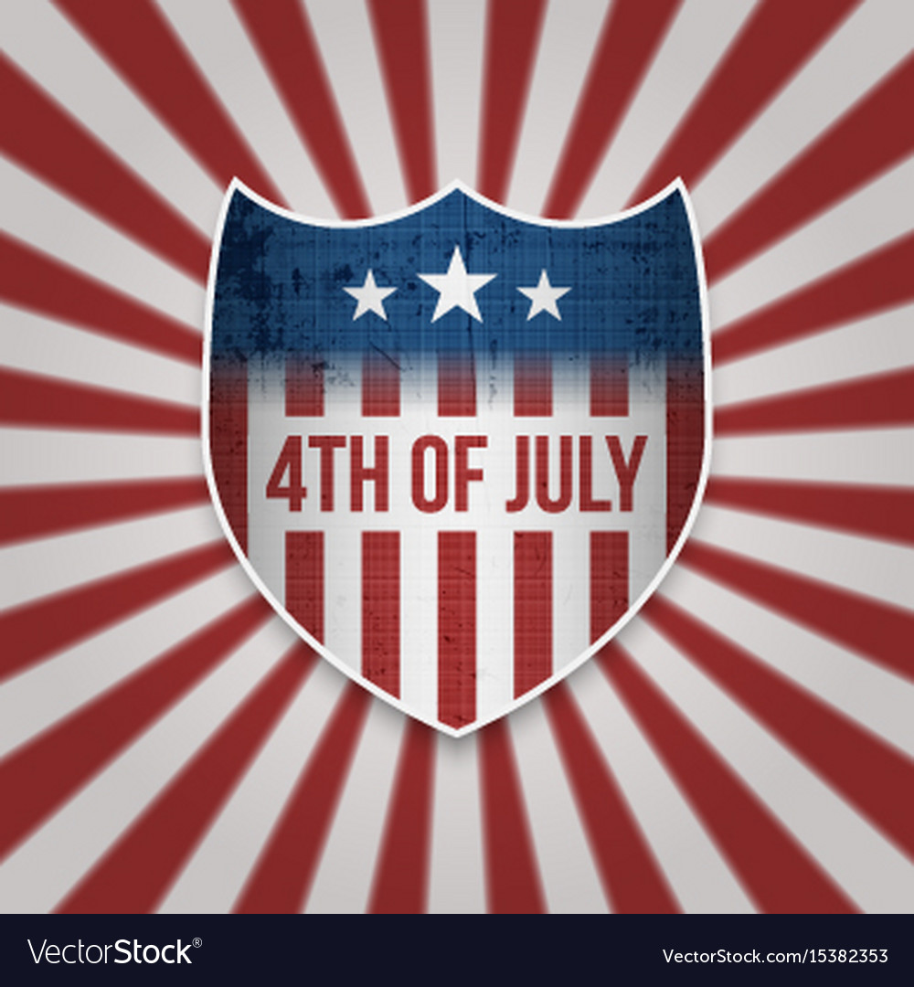 Fourth of july sign design template