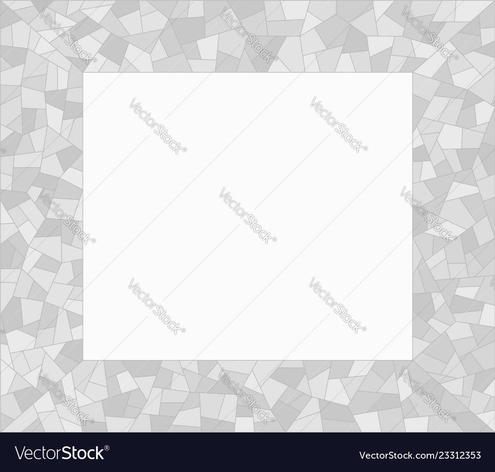 Grey mosaic triangles abstract border