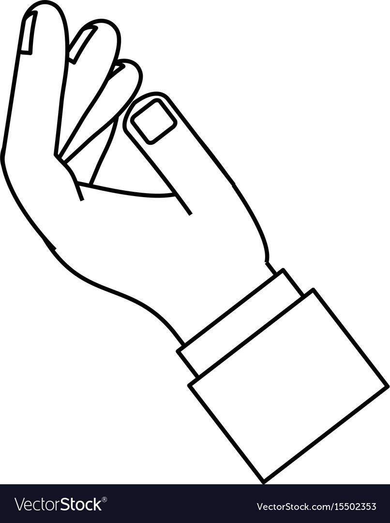 Hand palm open