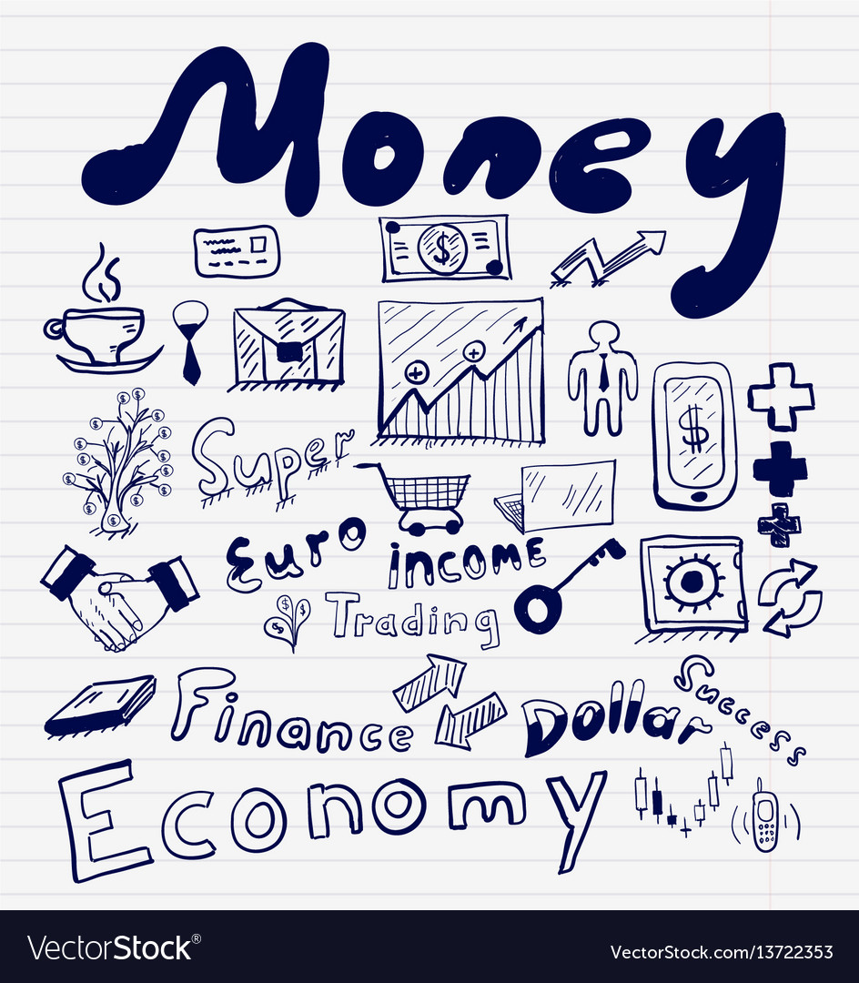 Mega collection of money finance business and vector image