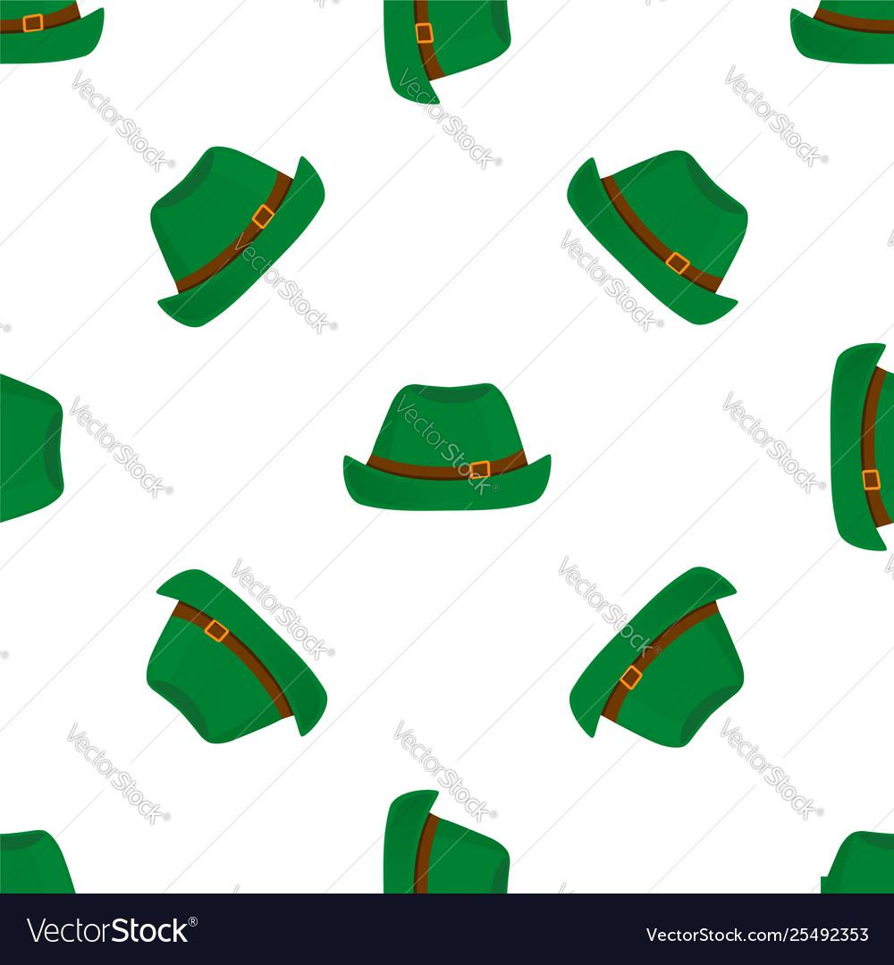Traditional german green vintage hat oktoberfest