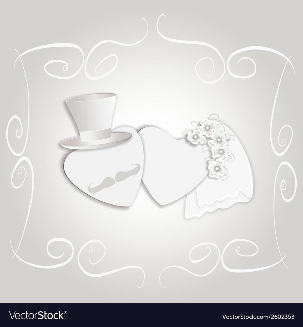 Wedding heart vintage