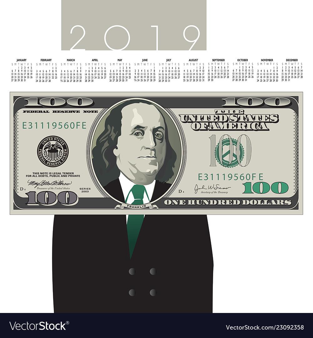 New 100 Dollar Bill 2019 2019 one hundred dollar bill calendar with ben fra