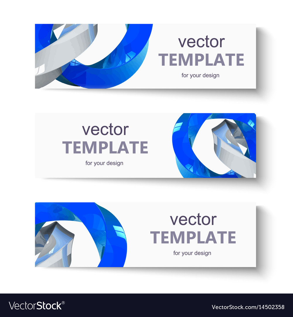 Abstract banner set for design